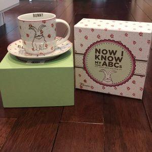Bunny - Now I know my ABCs plate and mug set